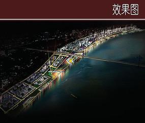滨江景观效果图