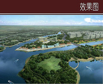 滨水核心绿地效果图