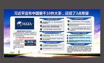 博鳌亚洲论坛10件大事展板