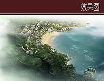 城市滨水鸟瞰图 JPG
