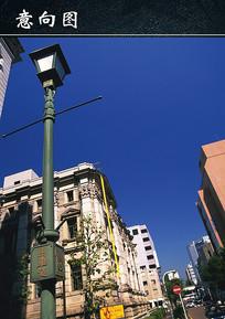 城市景观街头复古路灯 JPG