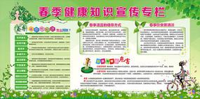 春季健康教育知识宣传栏展板