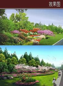 道路植物造景效果图 JPG