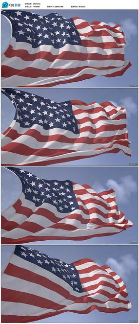 高清美国国旗视频