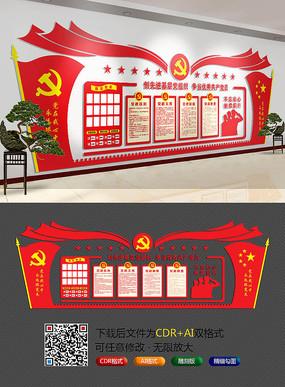 经典红色党建文化墙 CDR