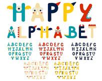 可爱艺术字体儿童美术字设计