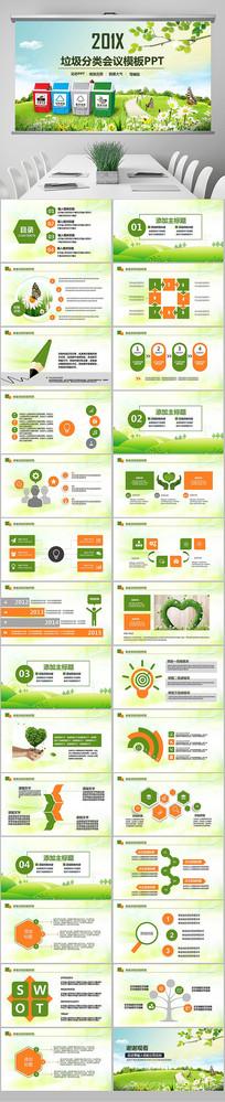 垃圾分类绿色城市环保局PPT