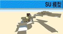 流水别墅模型