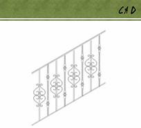 楼梯扶手花纹立面图案cad
