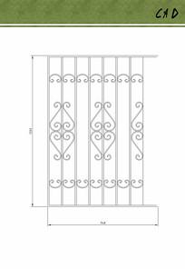 欧式铁艺栏杆花纹设计