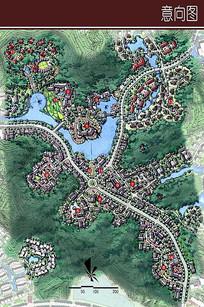 欧洲风情小镇彩平图