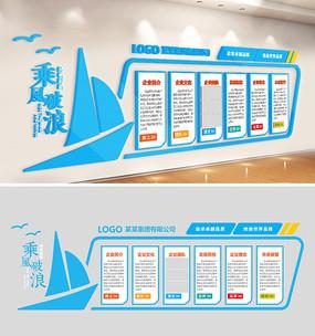 企业文化墙公司形象墙扬帆起航
