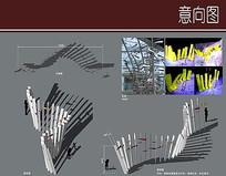 入口雕塑方案设计详图
