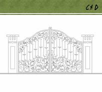 入口铁艺大门花纹设计