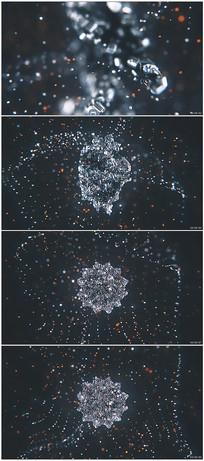 三维钢铁粒子汇聚logo动画