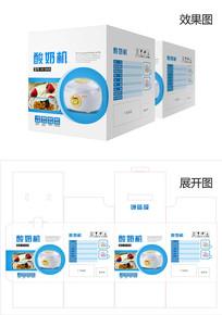酸奶机小电器纸盒包装设计