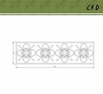 铁艺花朵花纹设计