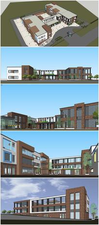 现代幼儿园建筑设计SU模型