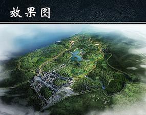 乡村旅游景区规划鸟瞰图
