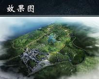 乡村旅游景区规划鸟瞰图 JPG