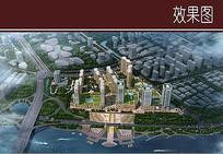 沿江区城市建筑景观鸟瞰图 JPG