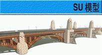 一个贴图的大桥模型
