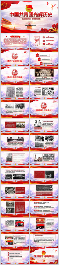 中国共青团光辉历史课件PPT