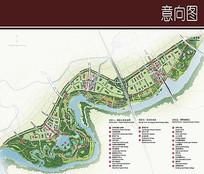 滨河景观彩平图