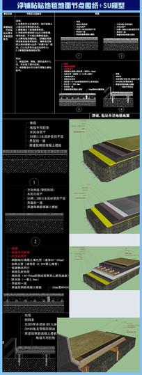 地毯地面节点图纸配SU模型