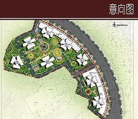 广场景观规划彩平图
