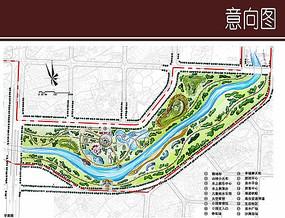 河道景观彩平图