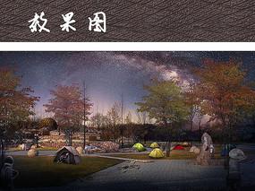 露营广场夜景效果图