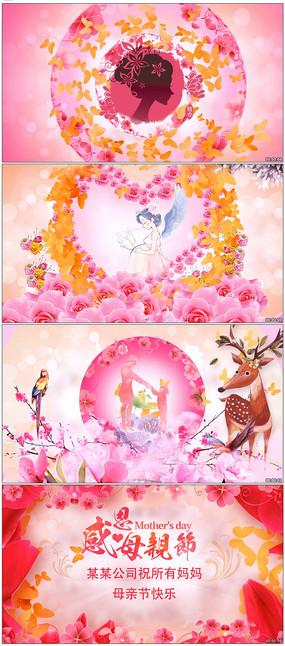 母亲节温馨幸福蝴蝶花朵花瓣