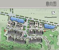农村住宅彩平图