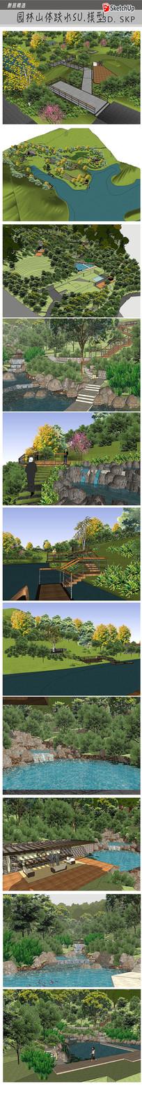 山体园林设计模型