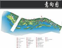 武夷山湿地公园景观平面图