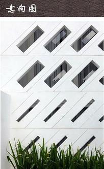 现代建筑立面几何窗户
