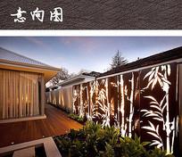 竹纹镂空金属景墙 JPG