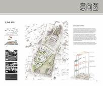 城市街道平面分析图 JPG