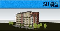 多层民居建筑模型