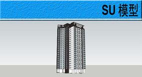 高层民居模型