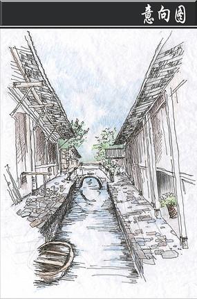 河北有名建筑手绘线稿