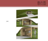 生态厕所模型意向图