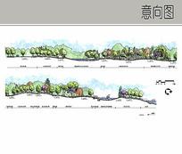 生态湿地园剖面图