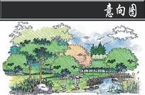 某湿地公园节点手绘