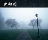 雾中小路 JPG