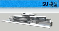 新中式建筑模型
