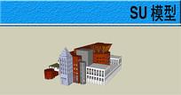 异形拼接建筑模型
