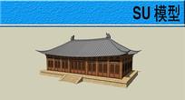 中国古典建筑模型 skp