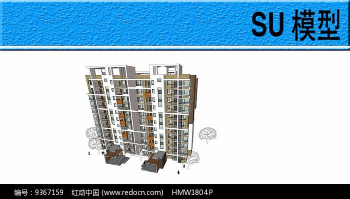 住宅建筑模型图片